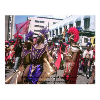 Parade an Trinidad-Karneval Postkarte
