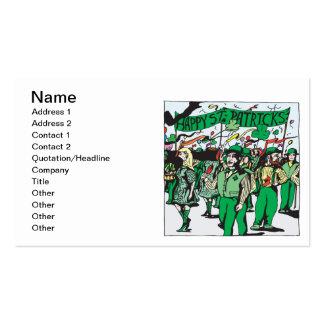 Parade St. Patricks Tages Visitenkarten