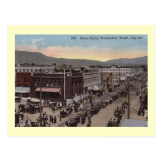 Parade, Wenatchee, Washington Vintag Postkarte