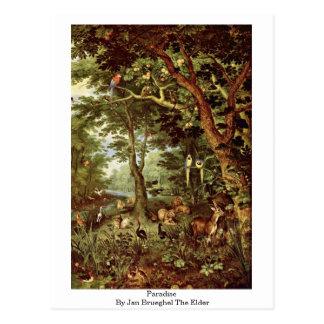 Paradies bis Januar Brueghel das Älteste Postkarte