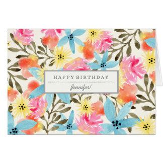 Paradies-Blumen-kundenspezifische Mitteilungskarte