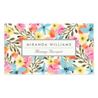 Paradies-Blumendruck Visitenkarten