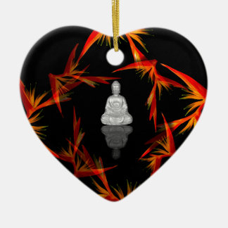 Paradies Buddha Keramik Herz-Ornament