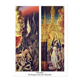 Paradies durch Rogier van der Weyden Postkarte
