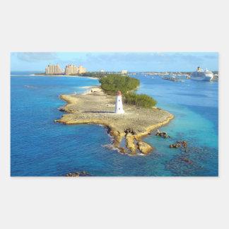 Paradies-Insel-Licht Rechteckiger Aufkleber
