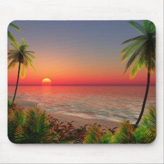Paradies-Insel-Mausunterlage Mousepads