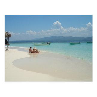 Paradies-Insel Postkarte
