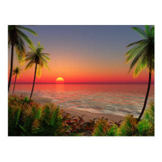 Paradies-Insel-Postkarte Postkarten