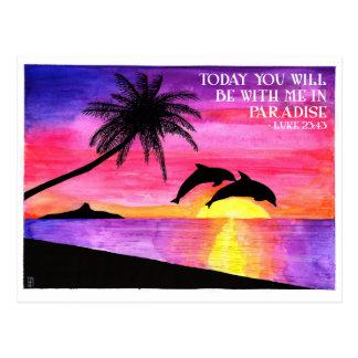 Paradies-inspirierend Postkarte