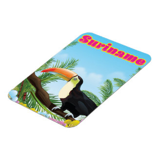 Paradies-Reiseplakat Surinams südamerikanisches Magnet