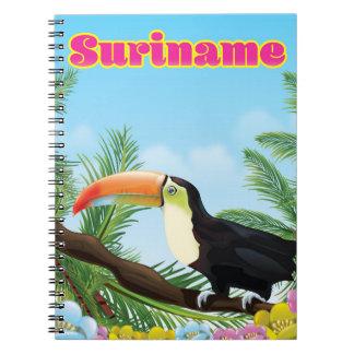 Paradies-Reiseplakat Surinams südamerikanisches Spiral Notizblock