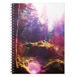Paradies-Wald Spiral Notizblock