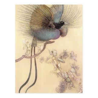 Paradiesvogel durch Warwick Goble Postkarte