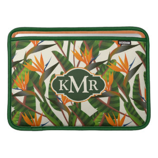 Paradiesvogel Monogramm des Blumen-Muster-| Sleeve Fürs MacBook Air
