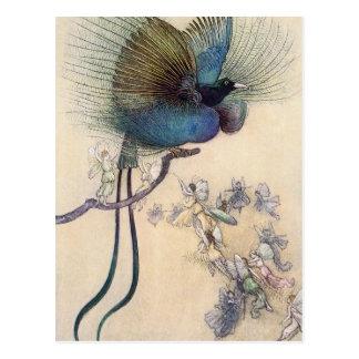 Paradiesvogel Postkarte Warwick Goble