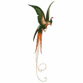 Paradiesvogel Vintage Kunst Freistehende Fotoskulptur
