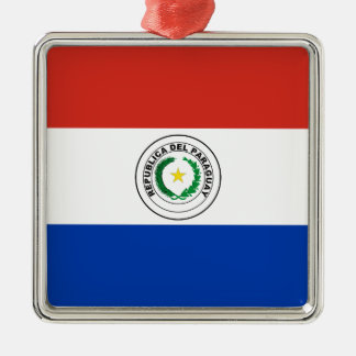 Paraguay-Flagge Silbernes Ornament