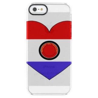 Paraguay-Flaggen-Herz Durchsichtige iPhone SE/5/5s Hülle