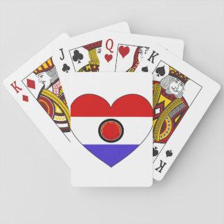 Paraguay-Flaggen-Herz Spielkarten