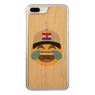 Paraguay-Hut, der Emoji lacht Carved iPhone 7 Plus Hülle