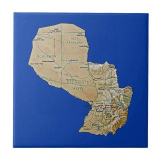 Paraguay-Karten-Fliese Fliese