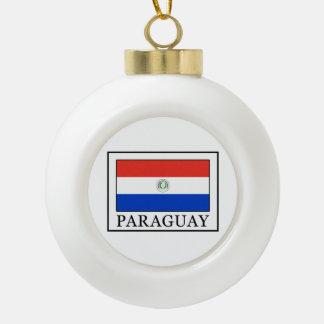 Paraguay Keramik Kugel-Ornament