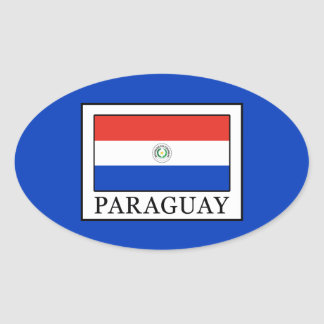 Paraguay Ovaler Aufkleber