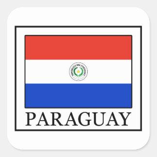 Paraguay Quadratischer Aufkleber