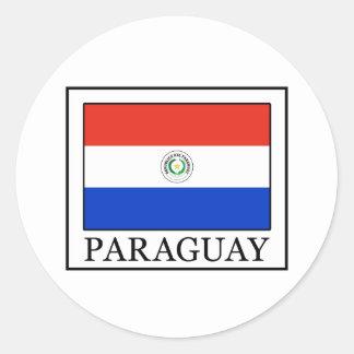 Paraguay Runder Aufkleber