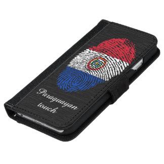 Paraguayische Touchfingerabdruckflagge iPhone 6/6s Geldbeutel Hülle