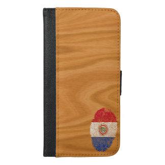 Paraguayische Touchfingerabdruckflagge iPhone 6/6s Plus Geldbeutel Hülle