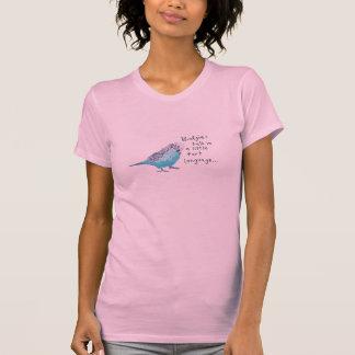 Parakeet: Budgies Gespräch in einer kleinen T-Shirt