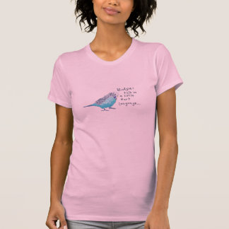 Parakeet: Budgies Gespräch in einer kleinen Tshirts