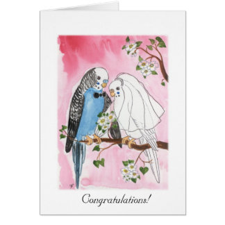 Parakeet-Hochzeitskarte Mitteilungskarte