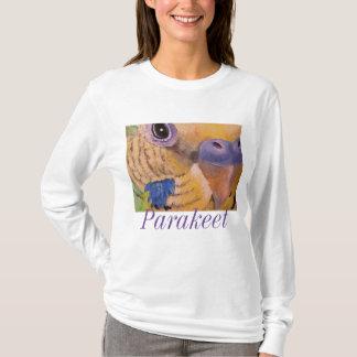 Parakeet-langer Hülsen-Kunst-T - Shirt durch Mary