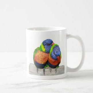 Parakeet-Liebe-Vögel Kaffeetasse
