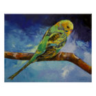 Parakeet-Malerei-Druck Poster