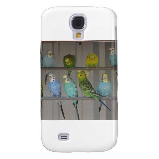 Parakeet-Parade Galaxy S4 Hülle