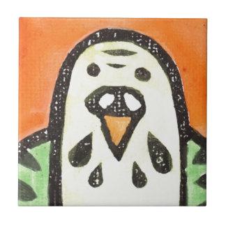Parakeet-Porträt Kleine Quadratische Fliese