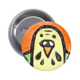 Parakeet-Porträt Runder Button 5,7 Cm