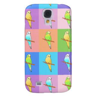 Parakeet-Regenbogen-Rechtecke Galaxy S4 Hülle