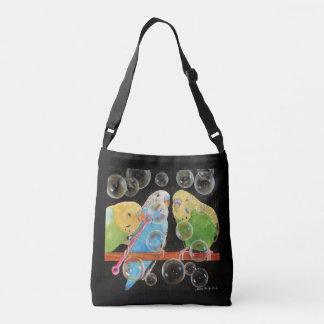 Parakeet sprudelt Tasche ganz über Kunst durch