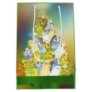 Parakeet-Weihnachten Medium Geschenktüte