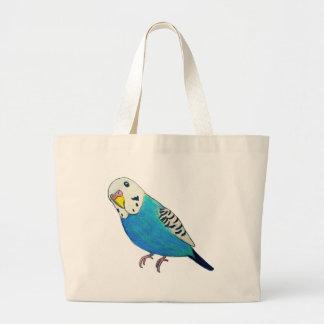 Parakeet-Zeichnen Jumbo Stoffbeutel
