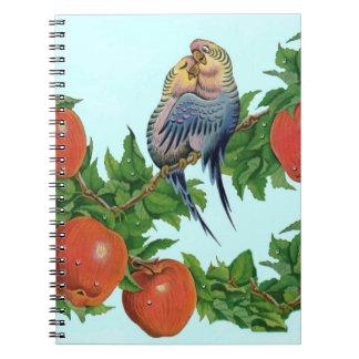 Parakeets in der Liebe Notizblock