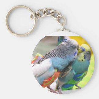Parakeets, Liebe Standard Runder Schlüsselanhänger