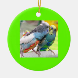 Parakeets Rundes Keramik Ornament