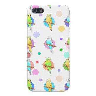 Parakeets u. Tupfen-Muster Hülle Fürs iPhone 5