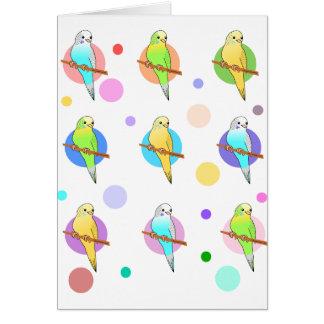 Parakeets u. Tupfen-Muster Karte