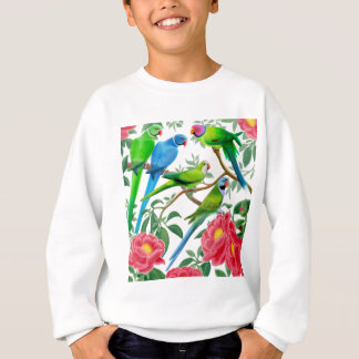 Parakeets und Pfingstrosen Sweatshirt